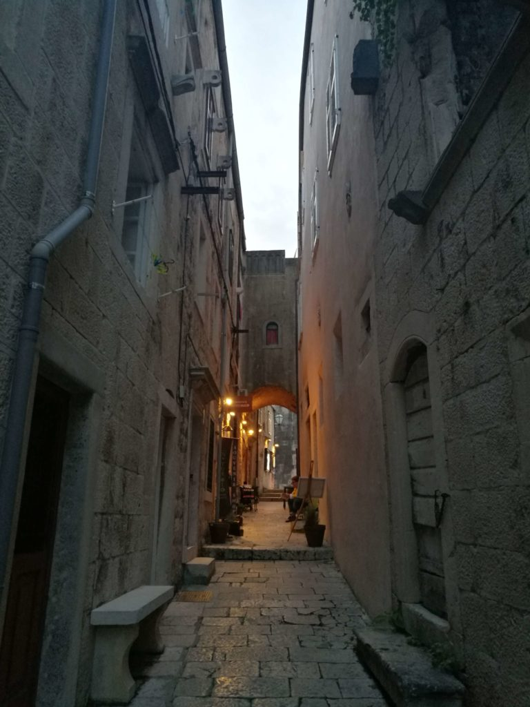 Small alleys in Korcula town