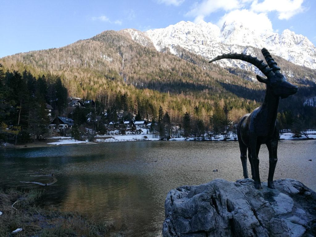 View on Jasna lake and capricorn