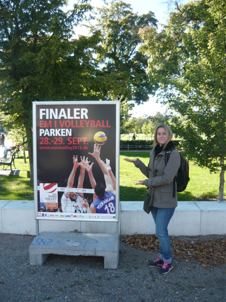 Plakat finałów Eurovolley 2013 w Kopenhadze